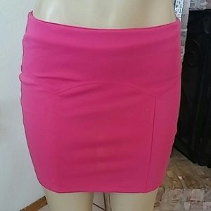 Hype Hot Pink Spandex Skirt